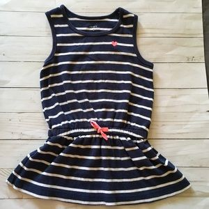 Carters Blue and White Striped Dress